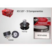 KS107 - KIT TENSOR E CORREIA GATES GOL, PARATI, POLO CLASSIC, IBIZA