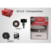 KS115 - KIT TENSOR E CORREIA GATES FOX, UP, VOYAGE, GOLF, A1, A3