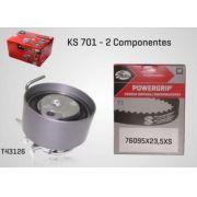 KS701 - KIT TENSOR E CORREIA GATES CLIO, KANGOO, LOGAN, MARCH, 206