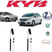 PAR AMORTECEDOR TRASEIRO HONDA NEW FIT / CITY 2009 2010 2011 2012 2013 2014 KAYABA