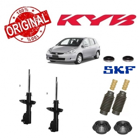 PAR AMORTECEDORES + KITS KAYABA HONDA FIT 2003 2004 2005 2006 2007 2008