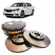 PAR DISCO DE FREIO NISSAN SENTRA 1.6 1.8 2.0 2007 2008 2009 2010 2011 2012 2013 FREMAX BD4206
