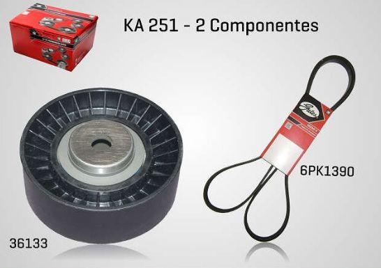 KA251 - KIT TENSOR E CORREIA GATES PALIO, SIENA, STRADA