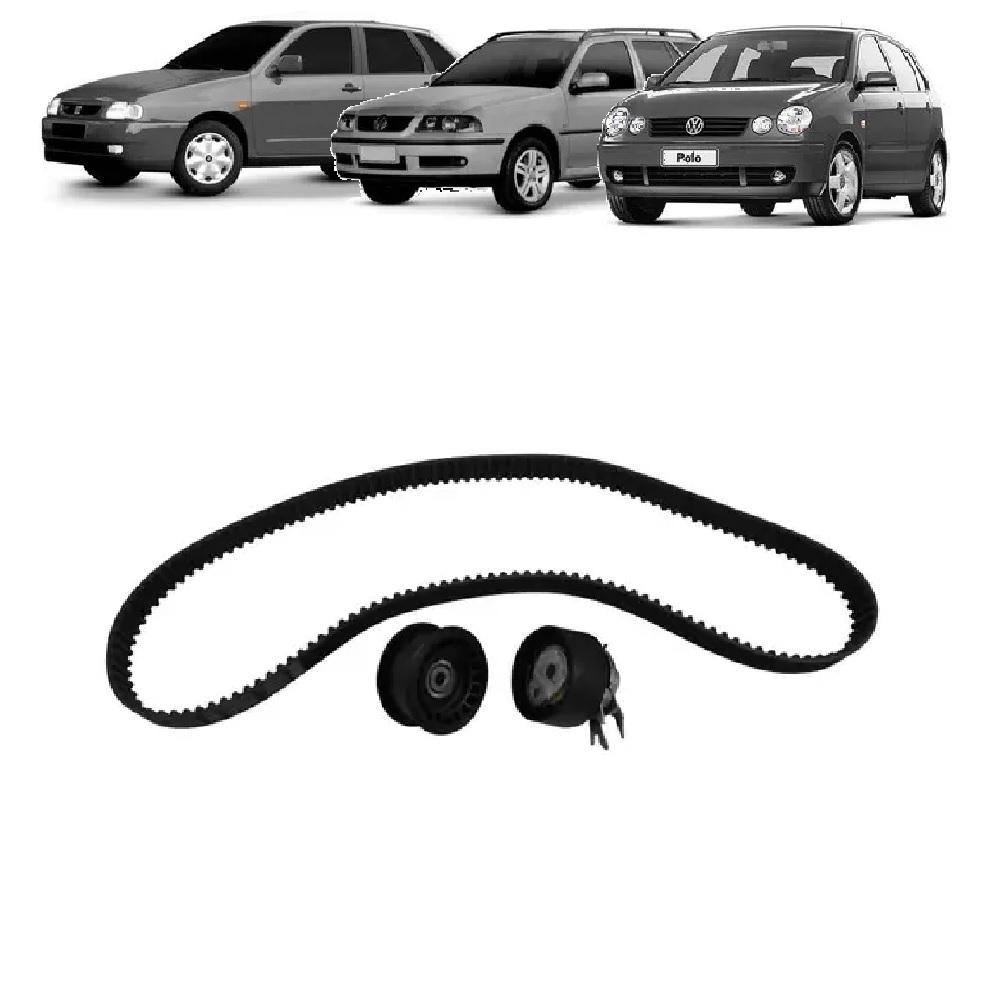 KIT TENSOR E CORREIA GATES SEAT IBIZA 1.0 16V 2001 ATÉ 2003 VW GOL, PARATI 1.0 16V AT / TURBO 1997 ATÉ 2001 POLO CLASSIC  - FLEX PECAS COMERCIO DE AUTOPECAS