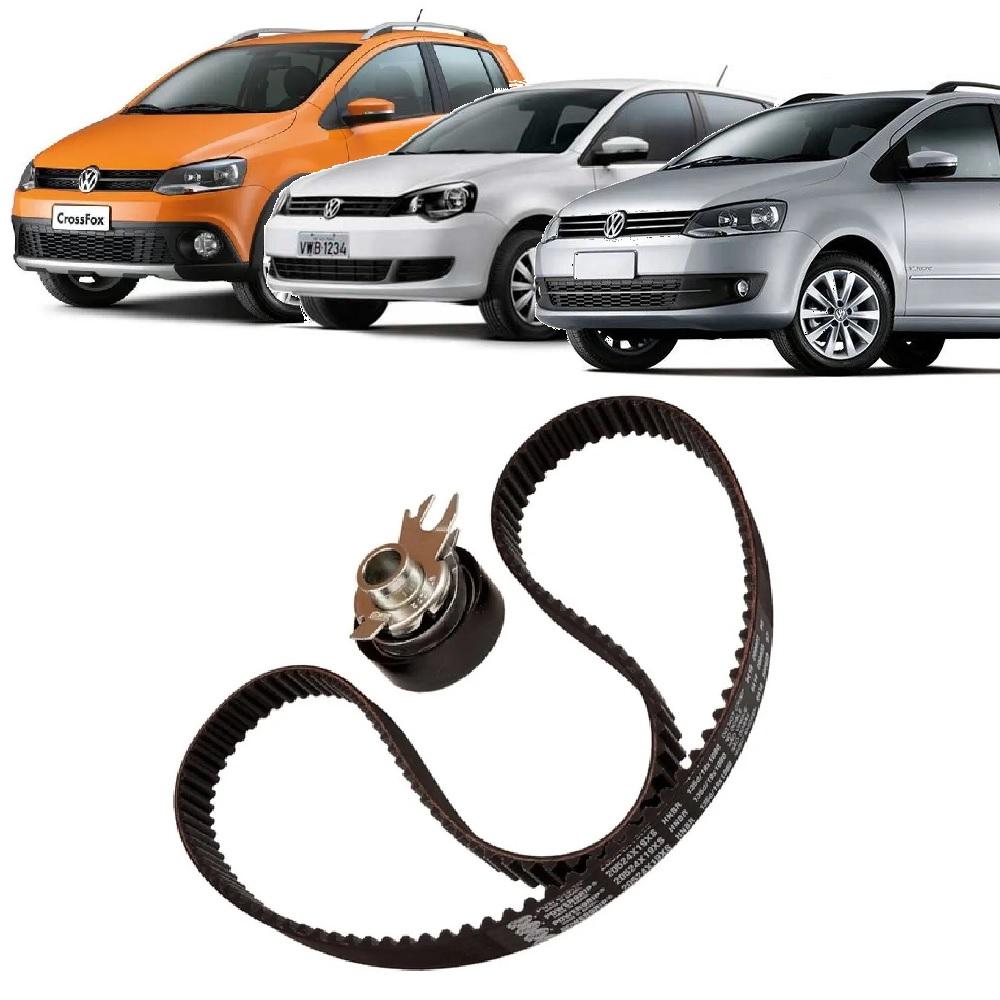 KIT TENSOR E CORREIA GATES VW CROSSFOX 1.0/1.6 8V 2009 A 2016 POLO 1.6 8V 2009 A 2014 SPACEFOX 1.0/1.6 8V 2009 A 2018  - FLEX PECAS COMERCIO DE AUTOPECAS