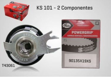 KS101 - KIT TENSOR E CORREIA GATES GOL, FOX, CROSSFOX, SPACEFOX, GOLF, KOMBI, POLO