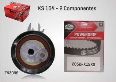 KS104 - KIT TENSOR E CORREIA GATES GOL, SAVEIRO, VOYAGE, FOX, CROSSFOX, SPACEFOX, KOMBI