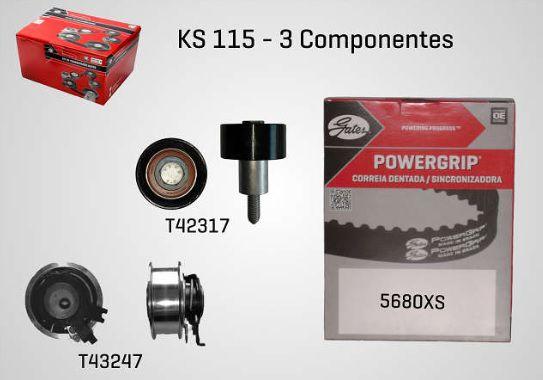 KS115 - KIT TENSOR E CORREIA GATES FOX, UP, VOYAGE, GOLF, A1, A3