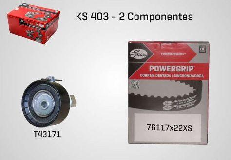 KS403 - KIT TENSOR E CORREIA GATES ECOSPORT, NEW FIESTA, FOCUS