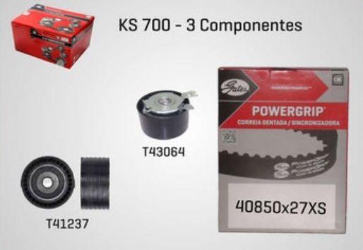 KS700 - KIT TENSOR E CORREIA GATES SCENIC, CLIO, MEGANE, KANGOO, LOGAN