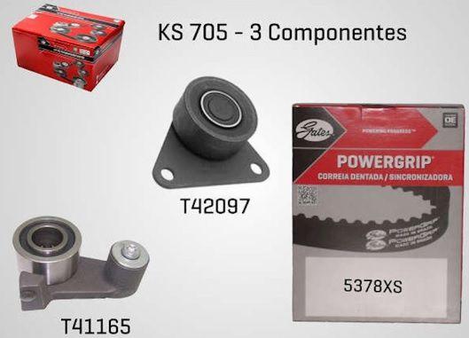 KS705 - KIT TENSOR E CORREIA GATES LAGUNA   - FLEX PECAS COMERCIO DE AUTOPECAS