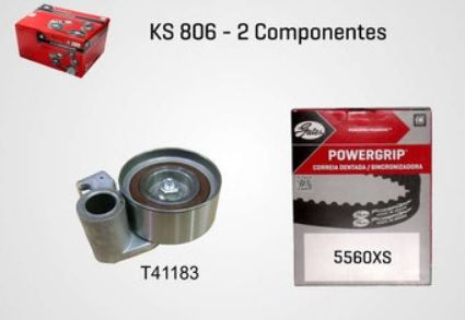 KS806 - KIT TENSOR E CORREIA GATES HILUX 2.5/ 3.0 16V D4D 05/...