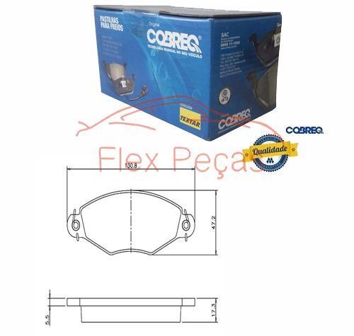 N1156 - Pastilha Freio Dianteira - Cobreq  - FLEX PECAS COMERCIO DE AUTOPECAS