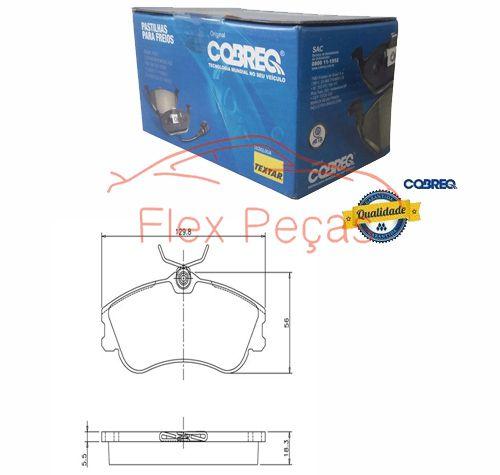 N1157 - Pastilha Freio Dianteira - Cobreq  - FLEX PECAS COMERCIO DE AUTOPECAS