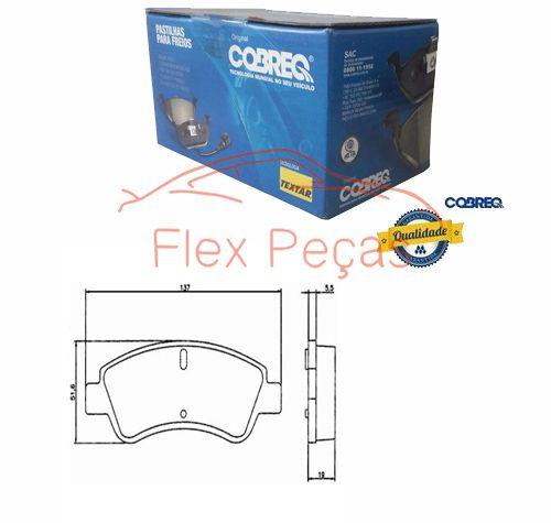 N1166 - Pastilha Freio Dianteira - Cobreq  - FLEX PECAS COMERCIO DE AUTOPECAS