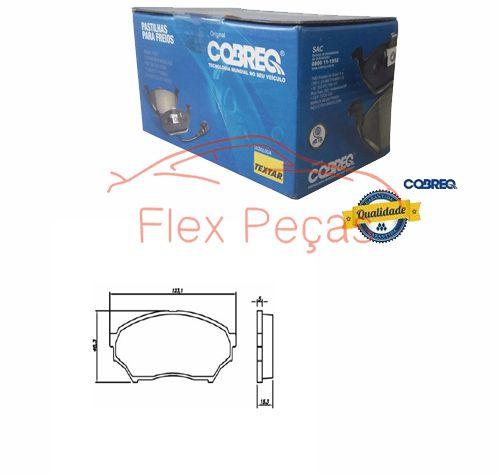 N1359 - PASTILHA FREIO DIANTEIRA - COBREQ  - FLEX PECAS COMERCIO DE AUTOPECAS
