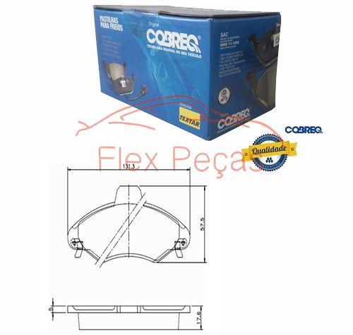 N144 - Pastilha Freio Dianteira Escort 1996 - 2003 - Cobreq  - FLEX PECAS COMERCIO DE AUTOPECAS