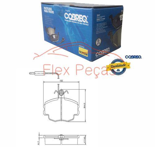 PN1153 - Pastilha Freio Dianteira Citroen Zx 1991-1997 - Cobreq  - FLEX PECAS COMERCIO DE AUTOPECAS
