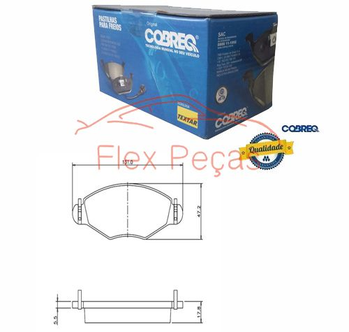 PN1158 - Pastilha Freio Dianteira 206 2000-2002 - Cobreq
