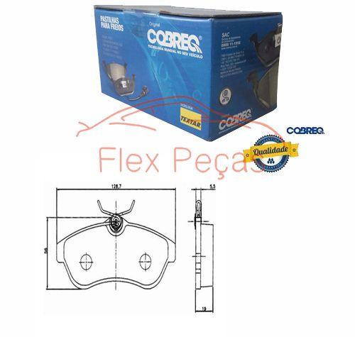 PN1164 - Pastilha Freio Dianteira Citroen C3 2002/... - Cobreq