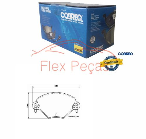 PN1174 - Pastilha Freio Dianteira C5 2001/... - Cobreq
