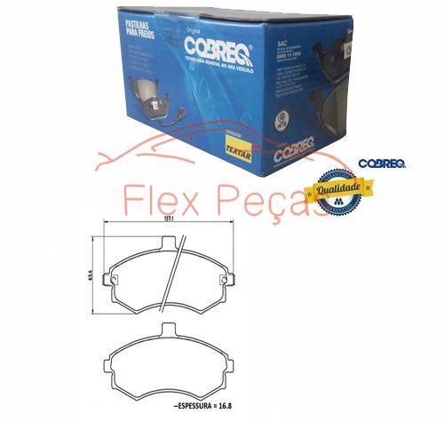 PN1280 - Pastilha Freio Dianteira - Cobreq  - FLEX PECAS COMERCIO DE AUTOPECAS