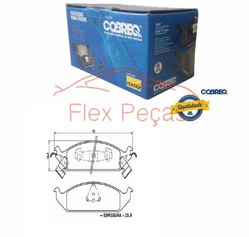 PN1415 - Pastilha Freio Dianteira Stratus 1993 - 2000 - Cobreq  - FLEX PECAS COMERCIO DE AUTOPECAS