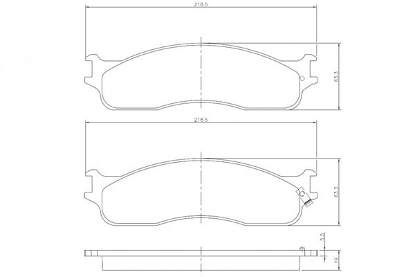 PN1444 - Pastilha Freio Dianteira Dodge Ram 1500/2500/3500 - Cobreq