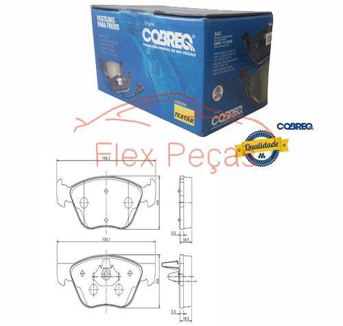 PN539 - Pastilha Freio Dianteira - Cobreq  - FLEX PECAS COMERCIO DE AUTOPECAS