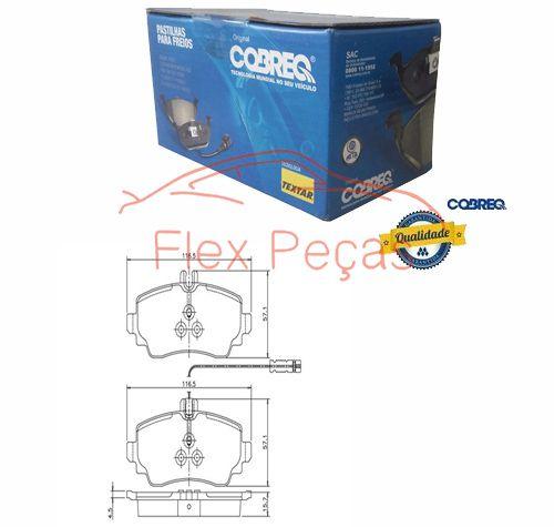 PN700 - Pastilha Freio Dianteir Classe A 140,160,170,190 1997/.. - Cobreq