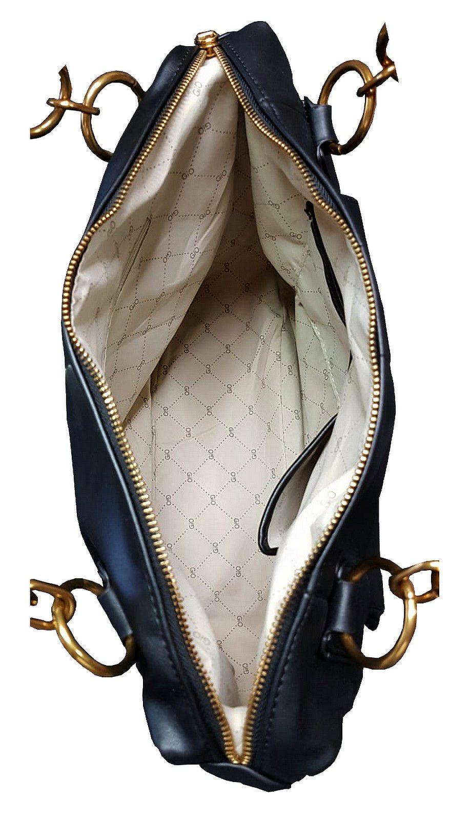 9e11583d8 Bolsa GIO Antonelli Tote Bag em Couro Ecológico Preto - Vistabella Bolsas e  Acessórios