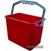 Balde 4 litros Retangular - Vermelho