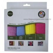 Pano Microfibra Kit com 4 und.