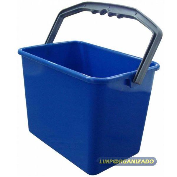 Balde 4 litros Retangular - Azul  - Limpo e Organizado