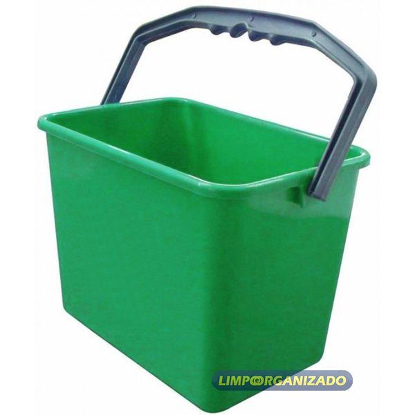 Balde 4 litros Retangular - Verde  - Limpo e Organizado