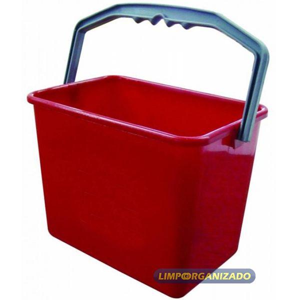 Balde 4 litros Retangular - Vermelho  - Limpo e Organizado