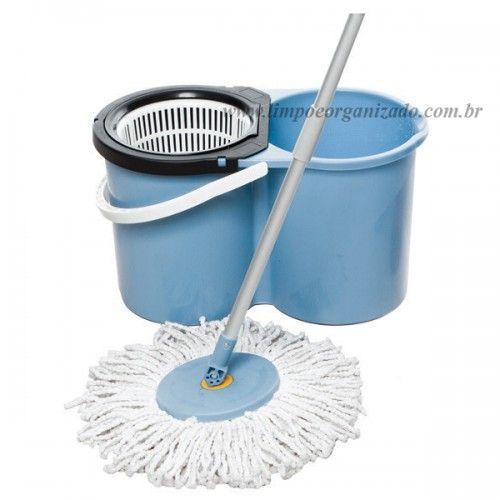 Balde com Escorredor Mop Spin  - Limpo e Organizado