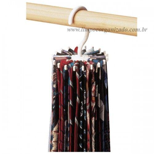 Cabide para Organizar Gravatas  - Limpo e Organizado