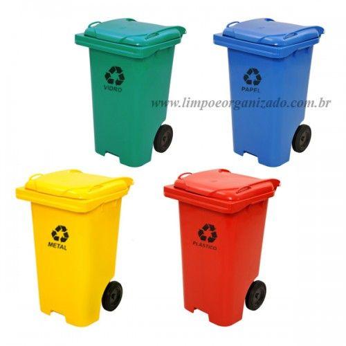 Contentor 120 litros - Individuais   - Limpo e Organizado