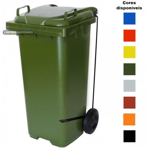 Contentor 120 litros com Pedal  - Limpo e Organizado