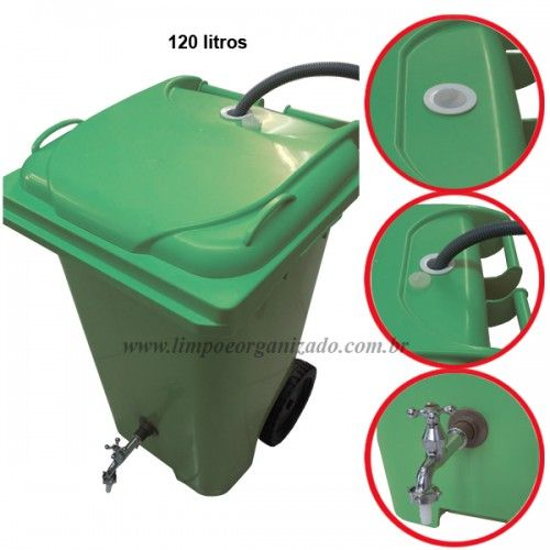 Contentor 120 litros para reaproveitamento de água  - Limpo e Organizado