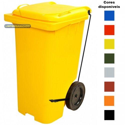Contentor 240 litros com Pedal  - Limpo e Organizado