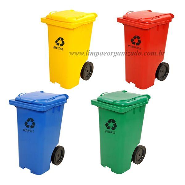 Contentor 240 litros - Individuais   - Limpo e Organizado