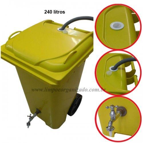 Contentor 240 litros para reaproveitamento de água  - Limpo e Organizado
