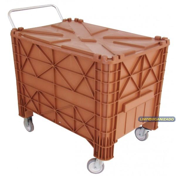 Contentor 370 litros com alça e tampa  - Limpo e Organizado