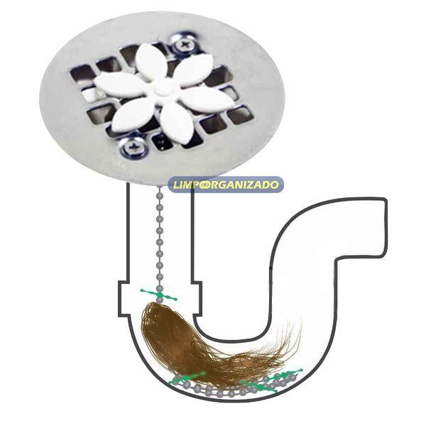 Desentupidor A Vácuo De Pia Vaso Sanitário + 1 Cata Cabelo  - Limpo e Organizado