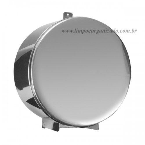 Dispenser Inox para papel higiênico 300/400m c/ trava  - Limpo e Organizado