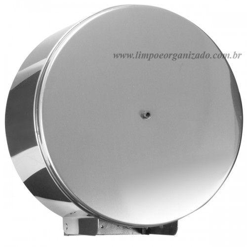 Dispenser Inox para Papel higiênico Rolão 400m  - Limpo e Organizado