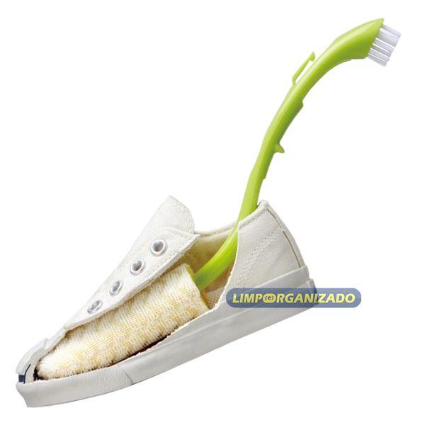 Escova para limpar tênis e sapato  - Limpo e Organizado