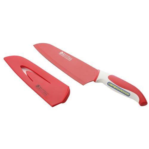 Faca Santoku Com Capa Vermelha 18cm Slice Dice Maxwell  - Limpo e Organizado